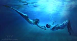 Underwater mermaid photo