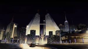 City at Night by Benjamin-the-Fox