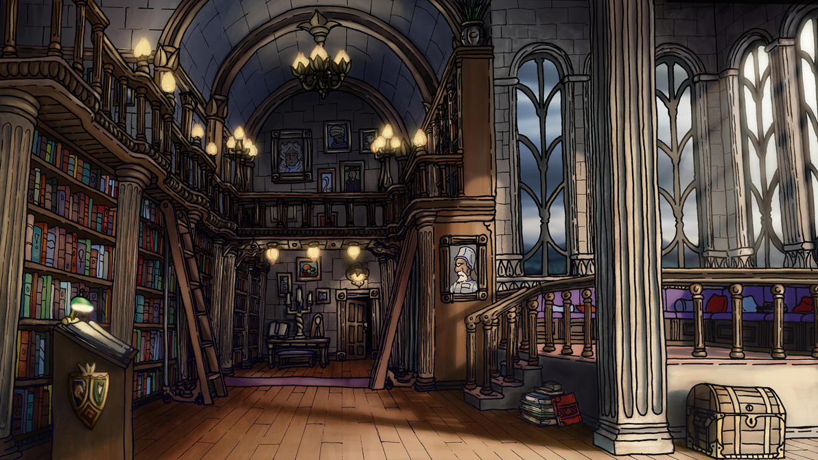 Library by Benjamin-the-Fox
