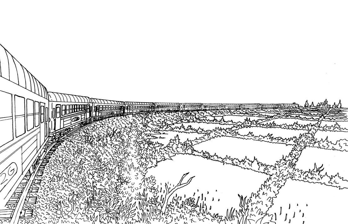 Train inked. by Benjamin-the-Fox
