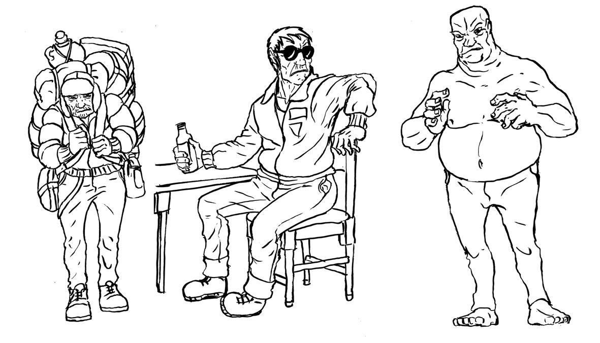 Three Unhappy Men by Benjamin-the-Fox