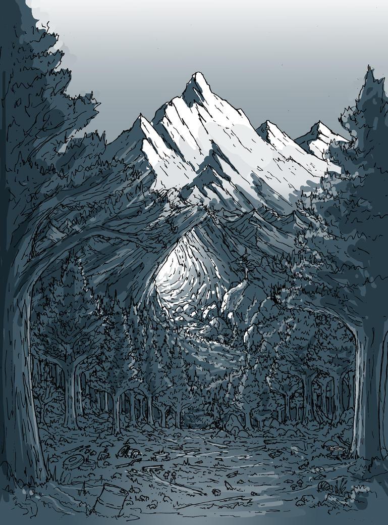 Mountain Time Shadows by Benjamin-the-Fox