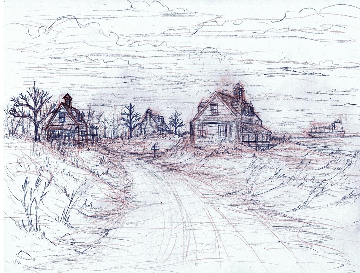 Nw Fl Beach Sketch by Benjamin-the-Fox