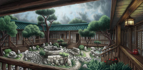 Japanese Courtyard by Benjamin-the-Fox
