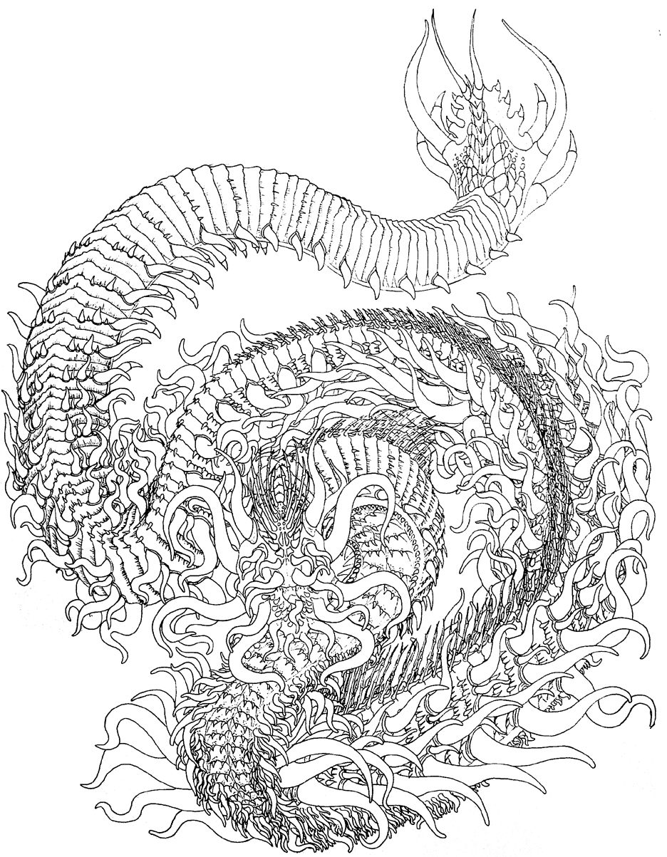 detailed dragon coloring pages - photo #8