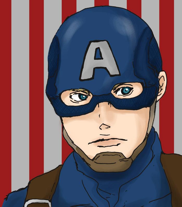 Captain America by manmannosuke