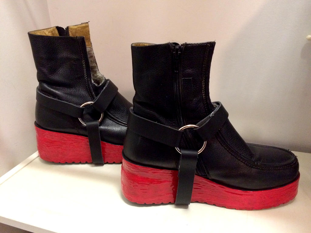 Red Painted Boots Block Heal