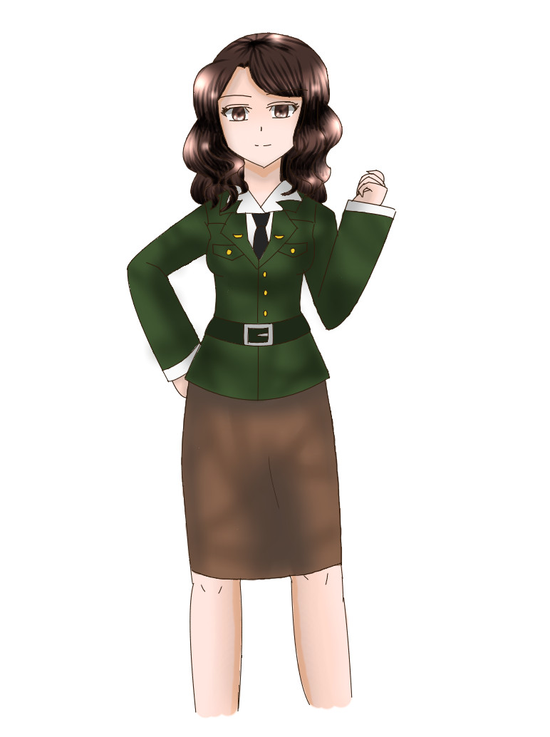 Peggy Carter Anime version by artycomicfangirl on DeviantArt