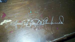 hand written signature in wire