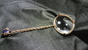 copper wrapped magnifying glass/ polished amathyst