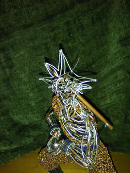 2nd wire goku face close up