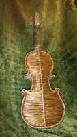 Wire violin backside
