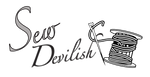 Sew Devlish Logo - b/w by My-God-Issa-Girl