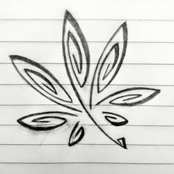 Tribal Pot Leaf Tattoo Flash by My-God-Issa-Girl