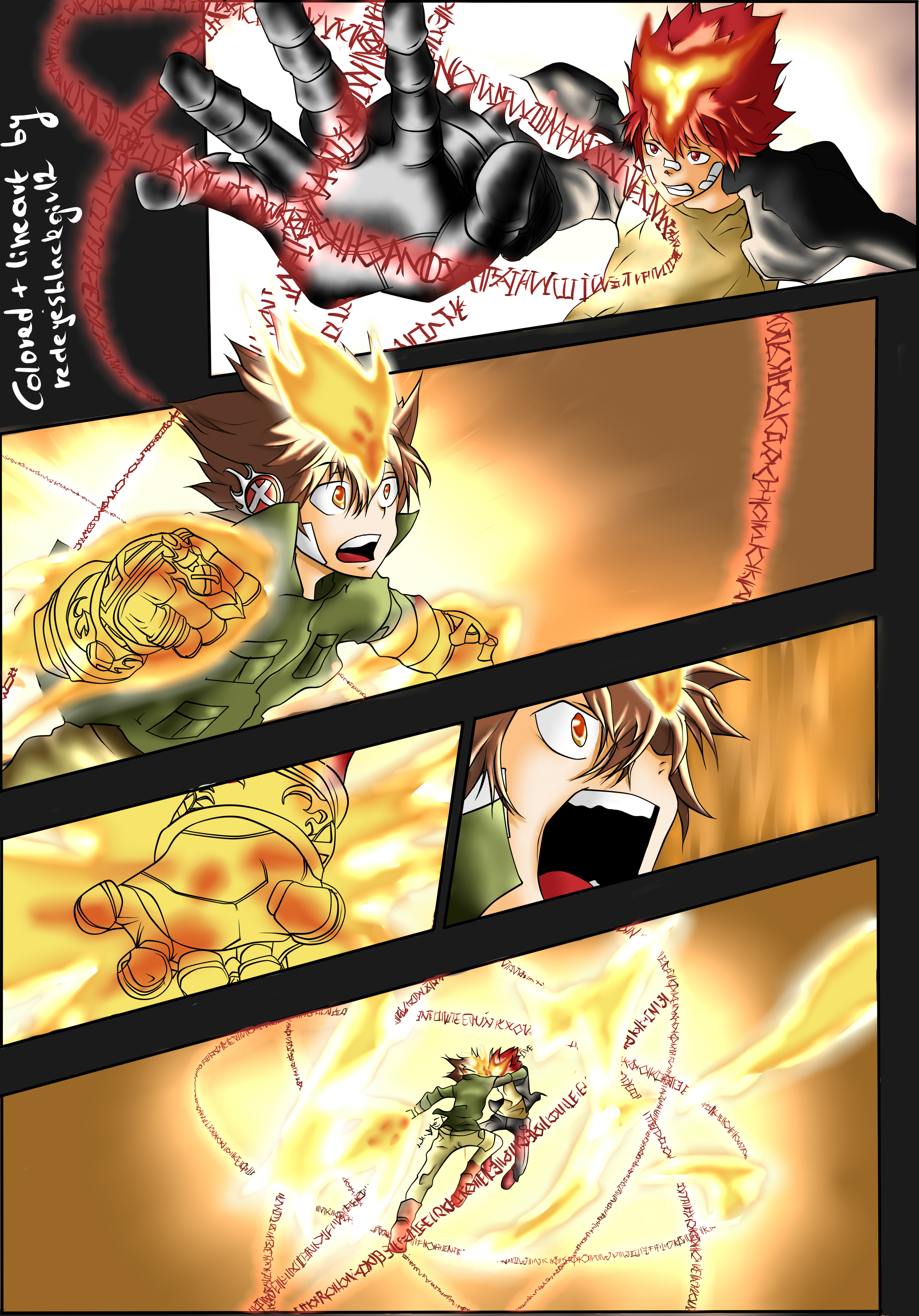 Tsuna Vs Enma Colored By Frangiipan On Deviantart