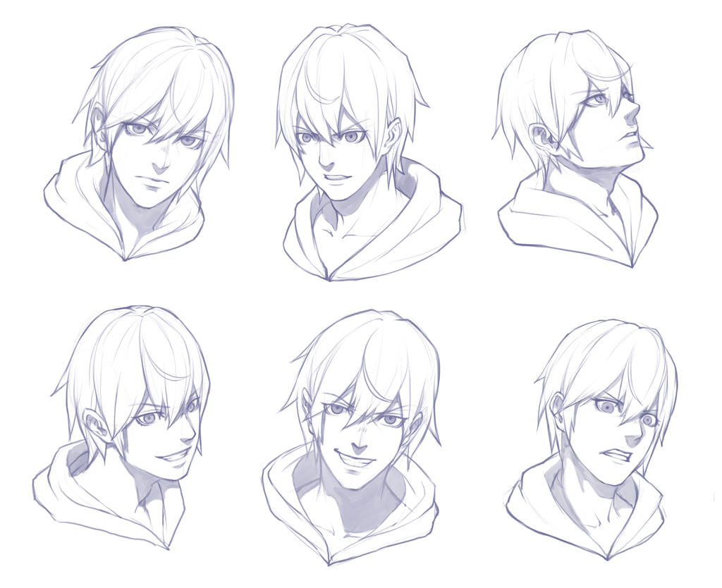 Boy Face Sketch Practice By THEONEG On DeviantArt