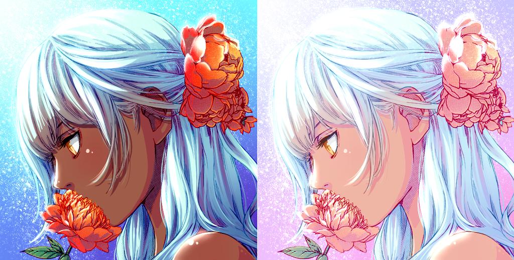 Flower Girl Coloring by KakiraMinamotou
