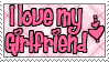 I Love my Girlfriend Stamp by qhostySTAMPS