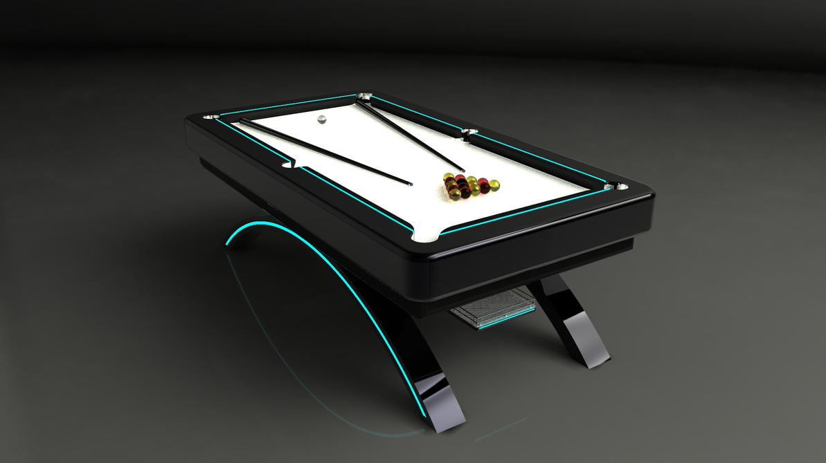 Pool Table By Jigster On DeviantArt - Revit pool table