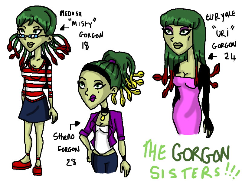 Gorgon Sisters One Piece Cnc: The Gorgon Sister...