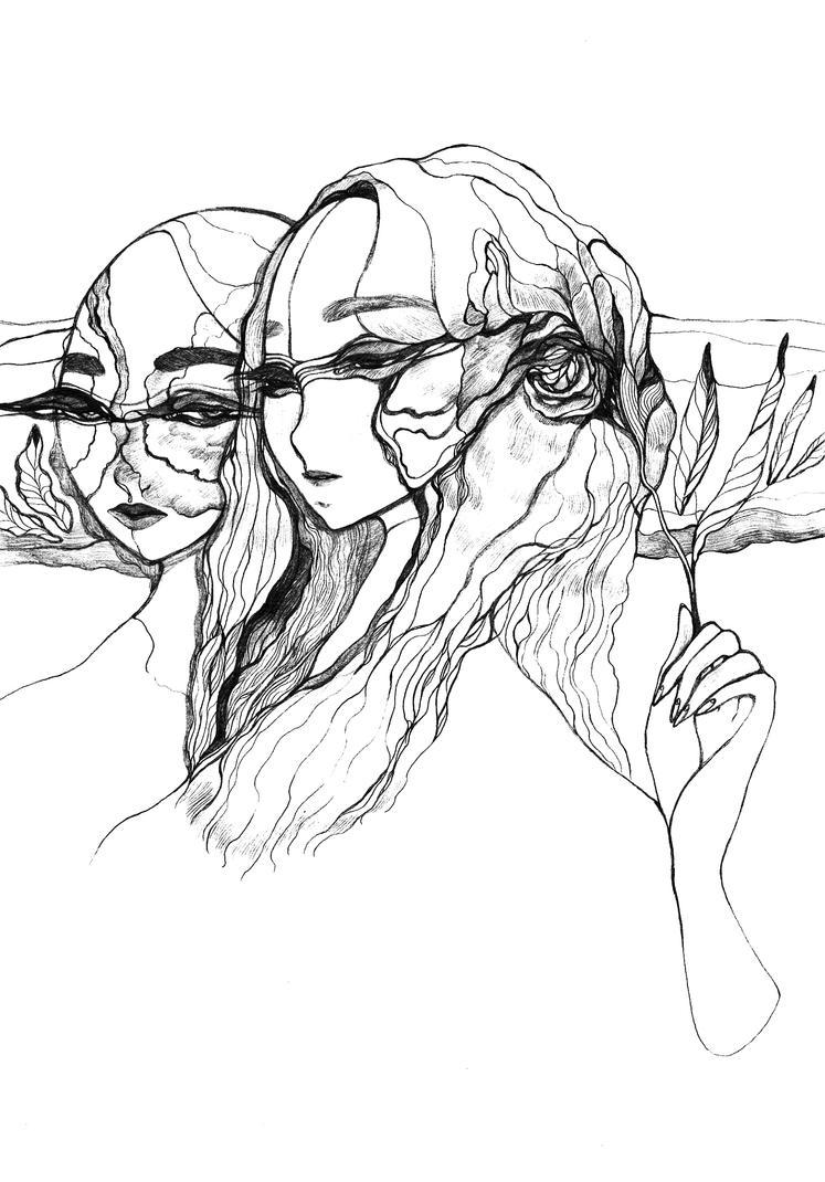 Two faces by Katari-Katarina
