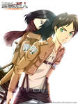 Shingeki No Kyojin - Mikasa and Eren