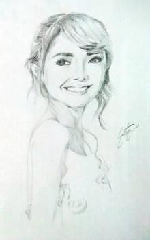 Pencil Sketch: Kathryn Bernardo