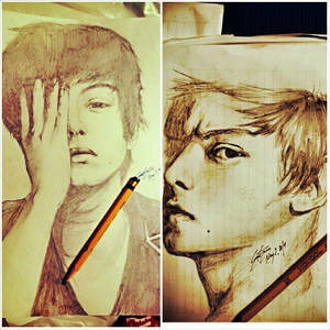 Pencil Sketch: Daniel Padilla x2