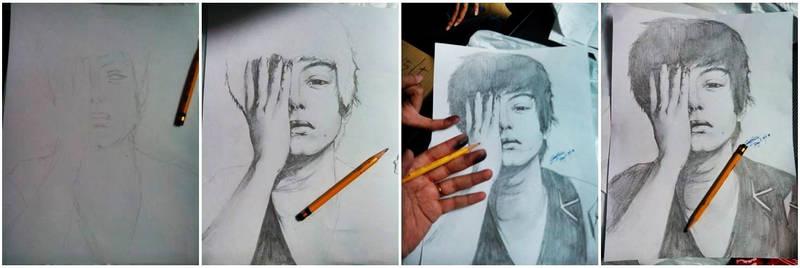 Pencil Sketch Progress: Daniel Padilla