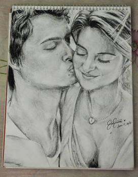 Sketch: Augustus Waters and Hazel Grace Lancaster