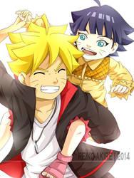 Bolt and Himawari Uzumaki [Fan Art]