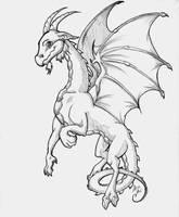 Flying Goat-dragon-thing by AcaciaTree