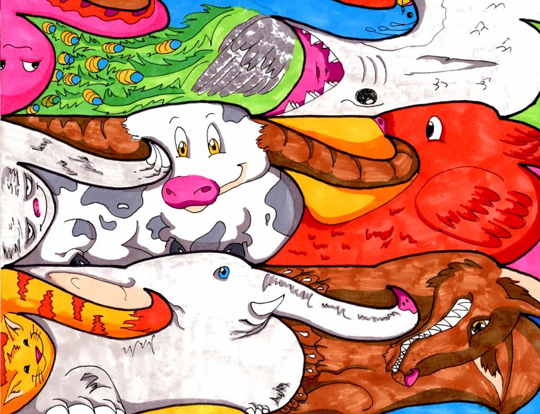 paisley + patterns: animal tessellation designs - illustration ...