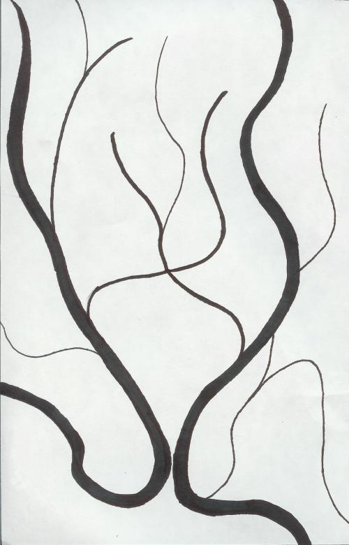 Curved Line Design by menono-art