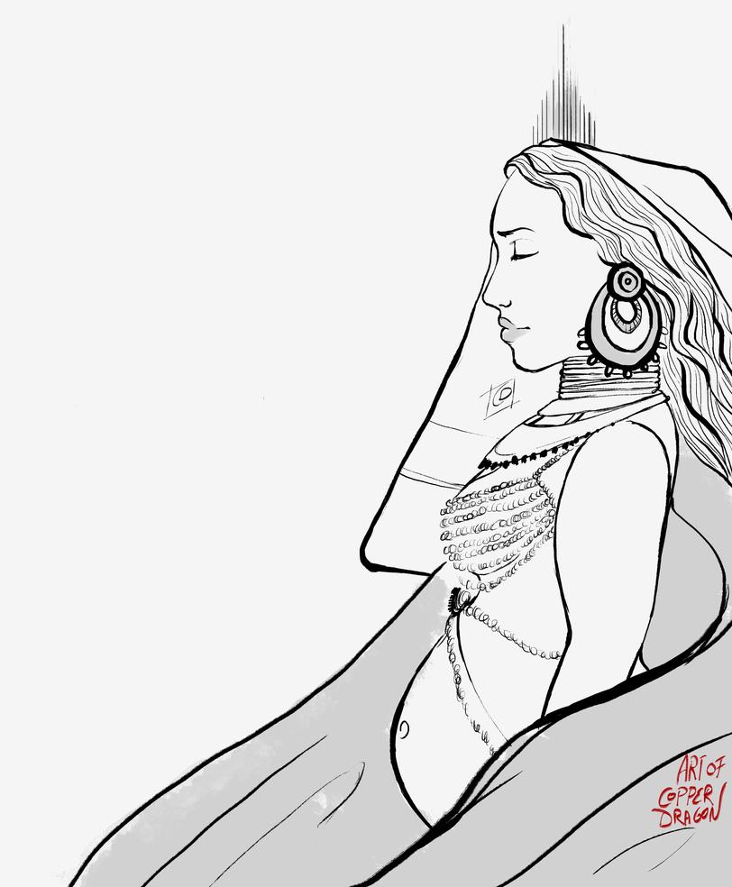 Goddess Illustration (Version 2) by copperdragons