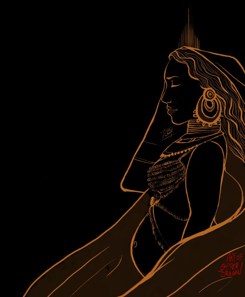 Goddess Illustration (Version 1) by copperdragons