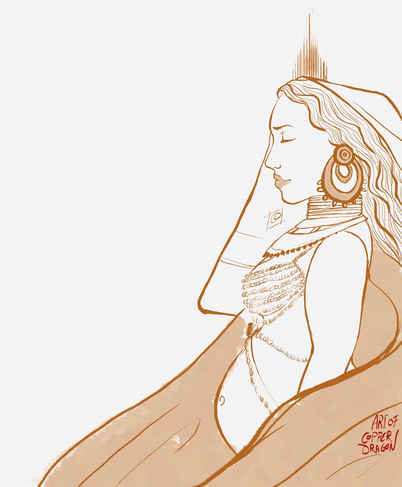 Goddess Illustration (Version 3) by copperdragons