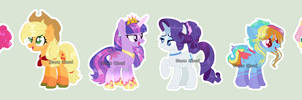 [Redesigns] My Mane Six by DinkyDooLove