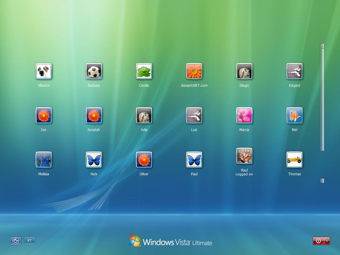 Windows 7 Default Login By Raulwindows Deviantart