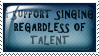 I support singing