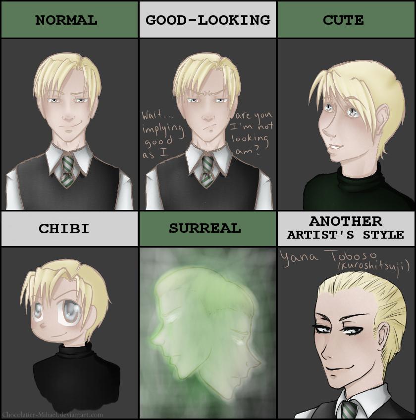 Style Meme - Draco Malfoy by glitchb0t