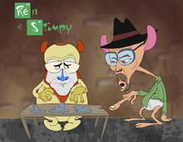 Breaking Bad meets Ren and Stimpy