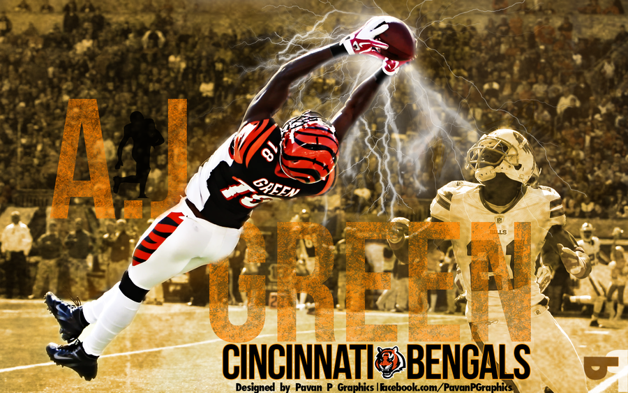 AJ Green Wallpaper By PavanPGraphics