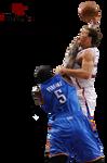 Blake Griffin Dunk Over Kendrick Perkins Cutout.pn