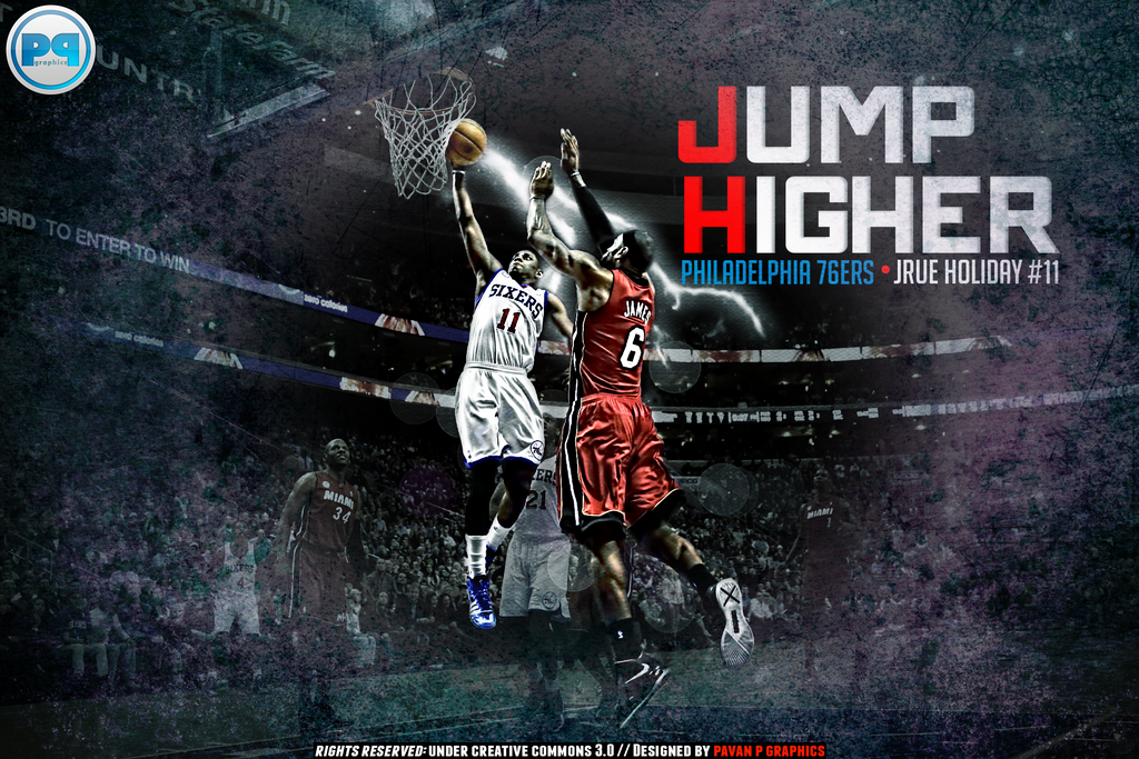 Jrue Holiday Dunk Over LeBron James Wallpaper By PavanPGraphics