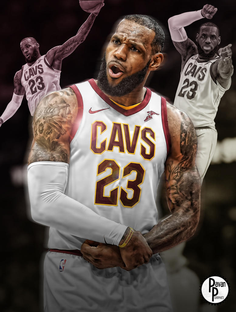 LeBron James Phone Wallpaper by PavanPGraphics