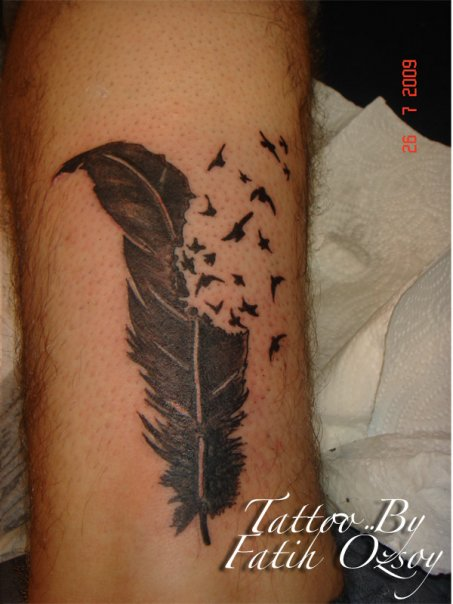 Feather Into Birds Tattoo Picture 2