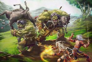 Ogre Rustlers by yanimator