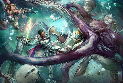Giant Devilfish Fight