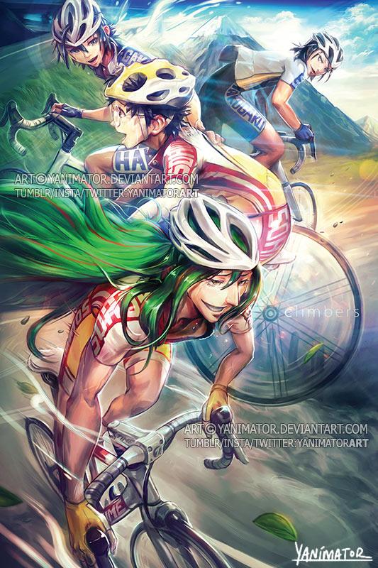 Yowamushi pedal climbers by yanimator